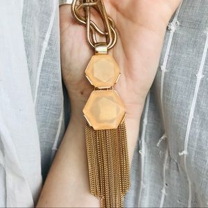 Jewelry - Gorgeous gold and orange pendant necklace